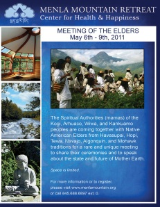 Kogi Native American elders retreat